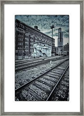 Chicago Rail Station Framed Print by Donald Schwartz