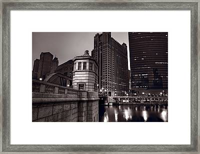 Chicago River Bridgehouse Framed Print by Steve Gadomski