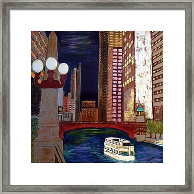 Chicago River Framed Print by Char Swift