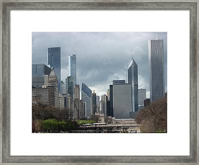 Chicago Skyline 1 Framed Print