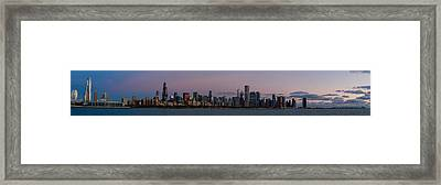 Chicago Skyline Before Sunrise Framed Print by Twenty Two North Photography