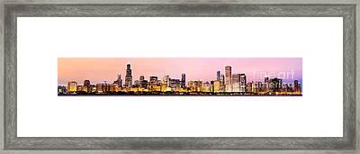 Chicago Skyline Panoramic Framed Print by Paul Velgos