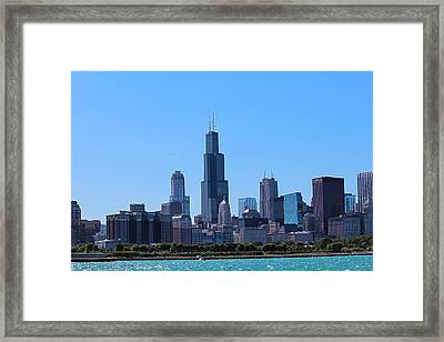 Chicago Skyline Framed Print by Peter Ciro