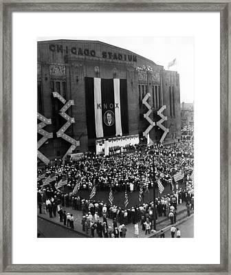 Chicago Stadium Framed Print