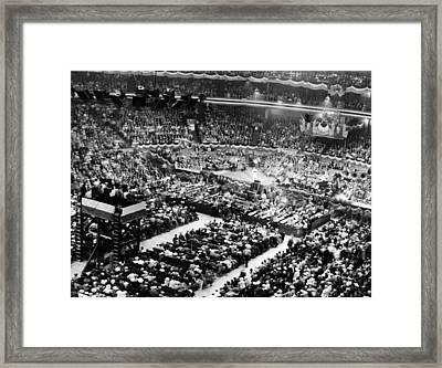 Chicago Stadium Interior Framed Print