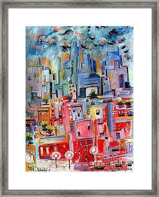Chicago Sunset Final Framed Print by Charlie Spear