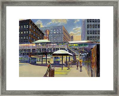 Chicago Theater 2 Framed Print by Rick Clubb