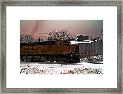 Chicago Train Framed Print