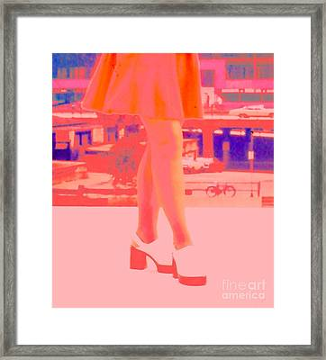 Framed Print featuring the photograph Chicago Vintage Chic by Ann Johndro-Collins