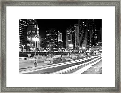 Chicago Wacker Drive At State Street Framed Print by Paul Velgos