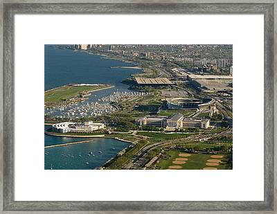 Chicagos Lakefront Museum Campus Framed Print by Steve Gadomski