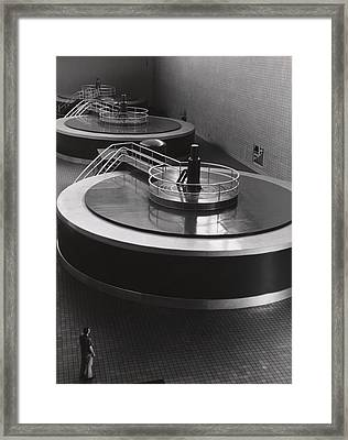 Chickamauga Dam Turbine Generators Framed Print by Everett