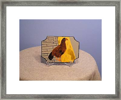 Chicken In Key West Framed Print by Tina Brown