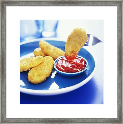 Chicken Nuggets Framed Print