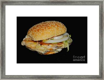 Framed Print featuring the photograph Chicken Sandwich by Cindy Manero