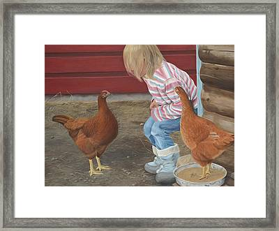 Chicken Talk Framed Print
