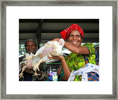 Chickens For Sale Framed Print