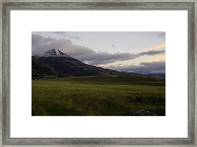 Chico Peak Framed Print by Glenda Brunette