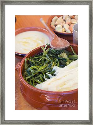 Chicory And Broad Bean Puree Framed Print by Sabino Parente