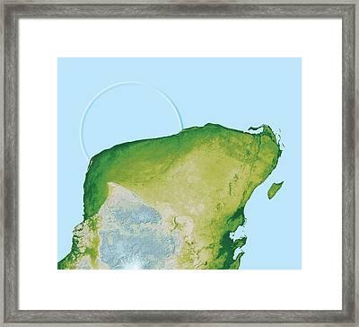 Chicxulub Impact Crater, Yucatan, Mexico Framed Print