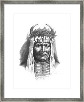 Chief Big Face Framed Print by Lee Updike