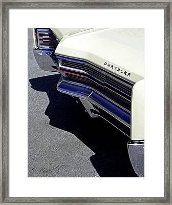 Framed Print featuring the photograph Chief Chrysler by Cheri Randolph