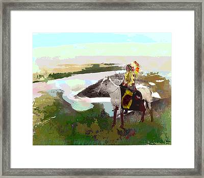 Chief Hand Framed Print by Charles Shoup