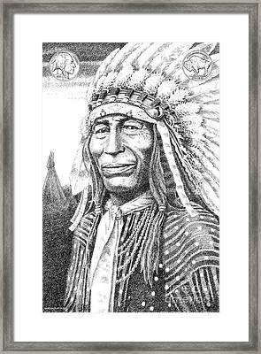 Chief-iron-tail Framed Print
