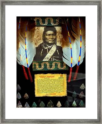 Chief Joseph Framed Print by Aron Chervin