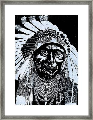 Chief Joseph Framed Print by Jim Ross