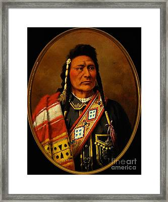 Chief Joseph Framed Print by Pg Reproductions