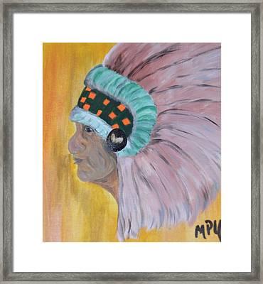 Chief Framed Print by Maria Urso