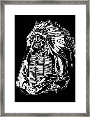 Chief Red Cloud 2 Framed Print by Jim Ross