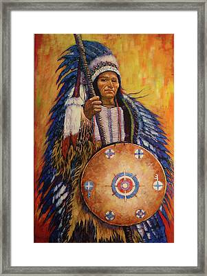 Framed Print featuring the painting Chief Two by Charles Munn