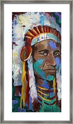Chiefing Framed Print
