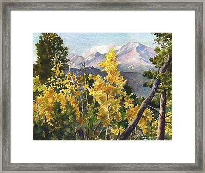 Chief's Head Mountain Framed Print by Anne Gifford