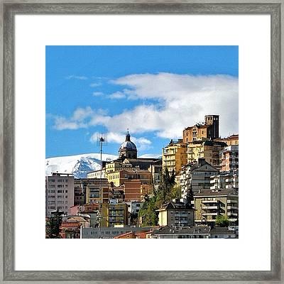 Chieti Skyline Framed Print