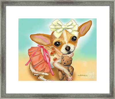 Chihuahua Princess Framed Print