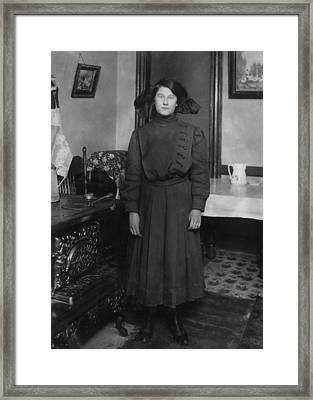 Child Labor, Eva Boylan, 14 Years Old Framed Print by Everett
