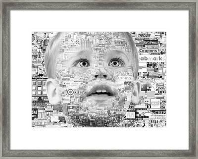Child Of 21st Century Framed Print by Gabriela Insuratelu