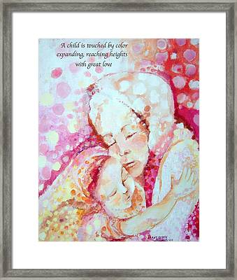 Child Of Love Framed Print by Mary Armstrong