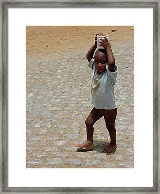 Child Of Maio Framed Print by Julia Raddatz