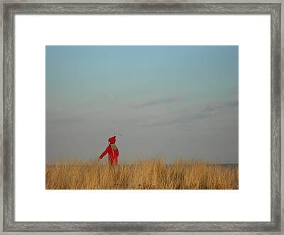 Child On The Dunes Framed Print by Joe  Burns