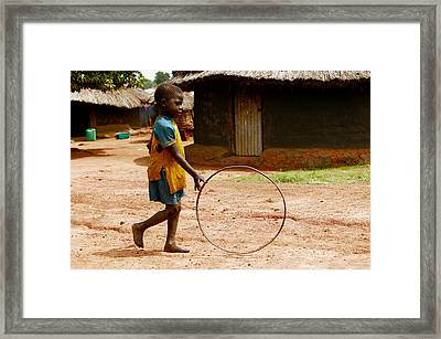 Child Playing Framed Print by Mauro Fermariello