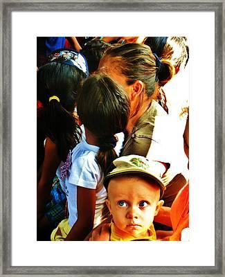 Child Wonder Framed Print by Daniel Morgan