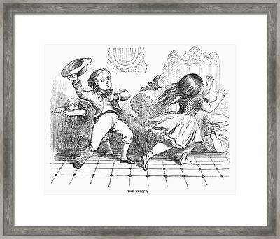 Children And Bat Framed Print by Granger