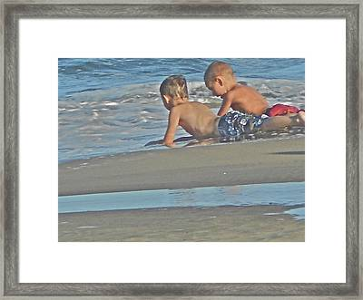 Children At Play Framed Print by Joe  Burns