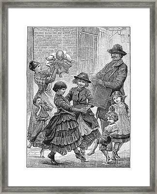 Children Dancing Framed Print by Granger