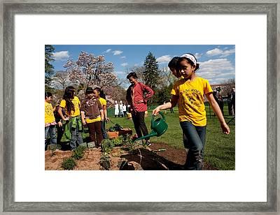 Children From Bancroft Elementary Framed Print