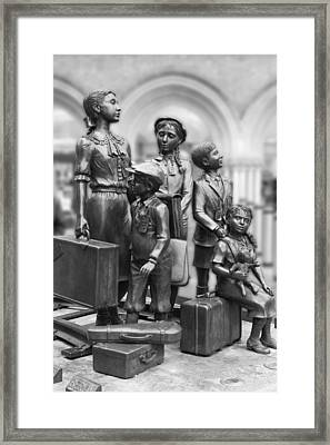 Children In The Second World War Framed Print